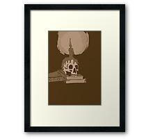Skull and candle vintage Framed Print