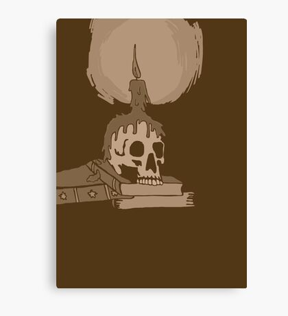 Skull and candle vintage Canvas Print