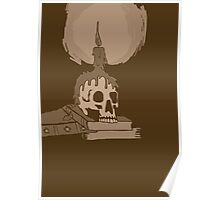 Skull and candle vintage Poster