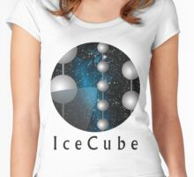 IceCube Neutrino Observatory Logo Women's Fitted Scoop T-Shirt