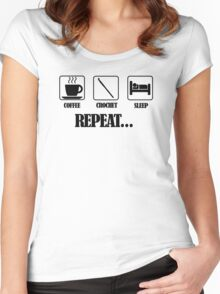 Coffee Crochet Repeat Women's Fitted Scoop T-Shirt