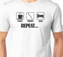 Coffee Crochet Repeat Unisex T-Shirt