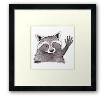 Happy Trash Panda Framed Print