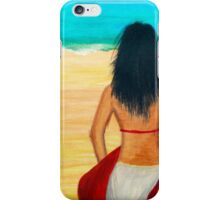 Girl at the Beach - Acrylic Painting on Canvass iPhone Case/Skin
