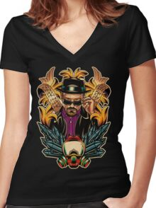 Breaking Bad - Walter White / Heisenberg Tribute Women's Fitted V-Neck T-Shirt