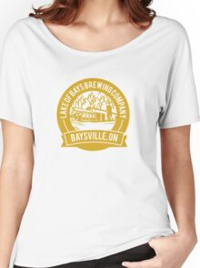 Lake of Bays Brewing Company - Baysville, ON: Cartoon Circular, Mustard Women's Relaxed Fit T-Shirt