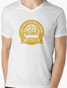Lake of Bays Brewing Company - Baysville, ON: Cartoon Circular, Mustard Mens V-Neck T-Shirt