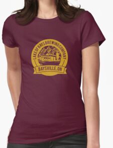 Lake of Bays Brewing Company - Baysville, ON: Cartoon Circular, Mustard Womens Fitted T-Shirt