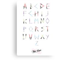 Lightsaber Typeface Metal Print