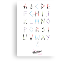 Lightsaber Typeface Canvas Print