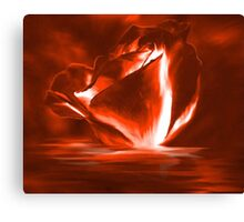 Ruby Red Rose Canvas Print