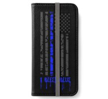 Thin Blue Line - I Bleed Blue iPhone Wallet/Case/Skin