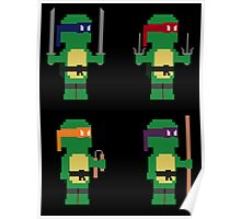 8-Bit Ninja Turtles Poster