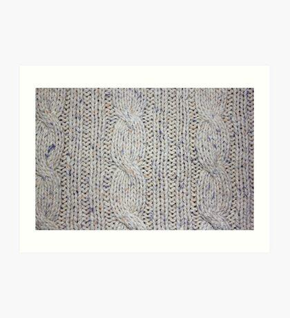 Cream Cable Knit Art Print