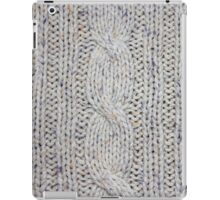 Cream Cable Knit iPad Case/Skin