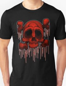Skull and Xbones in Red T-Shirt
