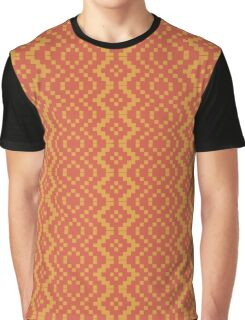 Egyptian Red and Golden Yellow Tribal Graphic T-Shirt