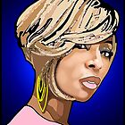 """R&B DIVAS: MARY J BLIGE"" by SOL  SKETCHES™"