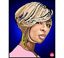 """R&B DIVAS: MARY J BLIGE"" Photographic Print"