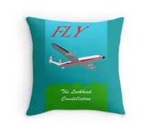 Lockheed Constellation Throw Pillow