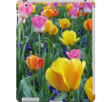 Bright tulips iPad Case/Skin
