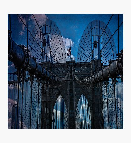 Brooklyn Bridge Webs Photographic Print
