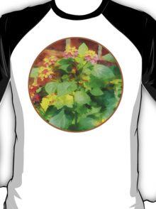 Lantana Against Brick Wall T-Shirt