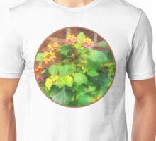 Lantana Against Brick Wall Unisex T-Shirt