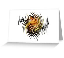 Dark Dancing Flame Greeting Card