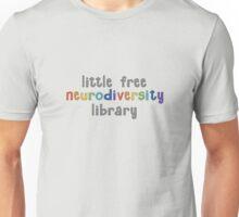 Little Free Neurodiversity Library Letters Unisex T-Shirt