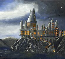 Hogwarts a: Painting by Little-Creator