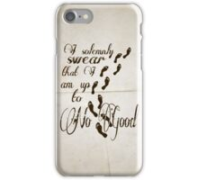 I Solomnly Swear in Paper  iPhone Case/Skin