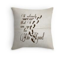 I Solomnly Swear in Paper  Throw Pillow
