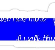 LEO Wife Thin Blue Line - Because he's mine I walk this line Sticker