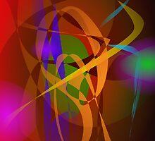 Luminous Brown Digital Abstract Art by masabo