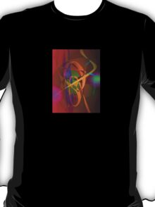 Luminous Brown Digital Abstract Art T-Shirt