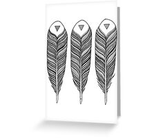 Tribal Feather Greeting Card