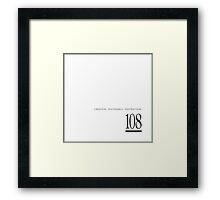 108 creation. sustenance. destruction. Framed Print