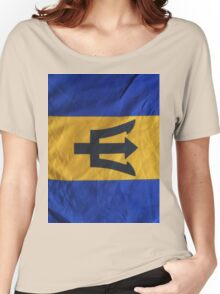 Barbados National Flag Women's Relaxed Fit T-Shirt