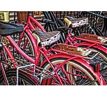 Twins - Bicycle Art By Sharon Cummings Photographic Print