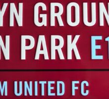 West Ham Upton Park  Sticker
