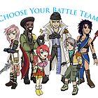Final Fantasy XIII - Pick Your Battle Team! by littlebearart