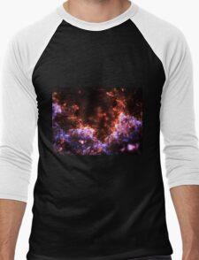 Fireworks - Abstract Fractal Artwork Men's Baseball ¾ T-Shirt