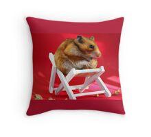 Hamster Holidays Pillow  Throw Pillow
