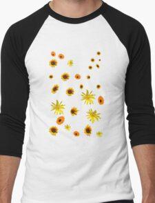 flowers Men's Baseball ¾ T-Shirt