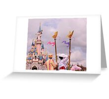 Sleeping Beauty's Castle With Mary and Bert Greeting Card