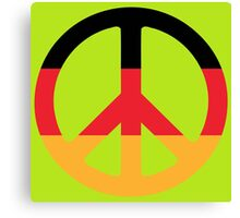 German Flag Peace Symbol Canvas Print