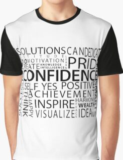 Confidence Classic Word Cloud Graphic T-Shirt
