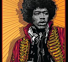 JIMI HENDRIX by Larry Butterworth
