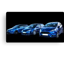 Blue Fords Canvas Print